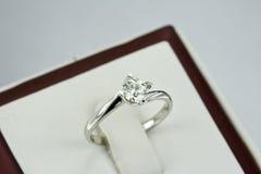 De ring van de diamant Stock Afbeelding