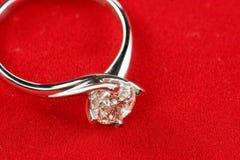 De ring van de diamant Stock Foto