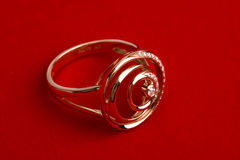 De ring van de diamant stock foto's