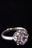 De ring van de diamant, juwelen Stock Afbeelding