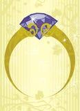 De Ring van de halfedelsteen Vector Illustratie
