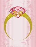 De Ring van de halfedelsteen Royalty-vrije Stock Foto's