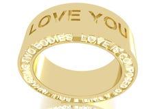 De Ring van de liefde Royalty-vrije Stock Afbeelding