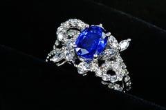 De ring van de saffier Royalty-vrije Stock Afbeelding