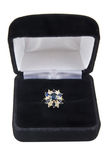 De ring van de saffier en van de diamant Royalty-vrije Stock Afbeelding