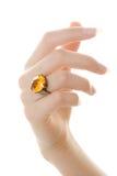 De ring van de vinger Stock Foto