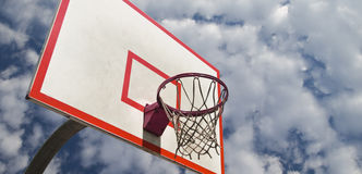 De ring van het basketbal Stock Fotografie