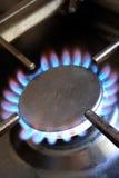 De ring van het het gaskooktoestel van lit Stock Afbeelding
