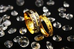 De Ring van het paar - Bezinning royalty-vrije stock foto