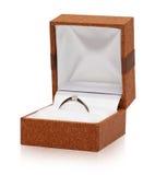 De ring van het witgoud met diamant Stock Afbeelding