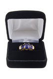 De ring van Iolite Royalty-vrije Stock Foto's