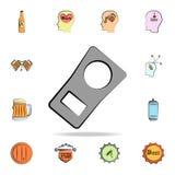 de ring voor een bier kan gekleurd stijlpictogram schetsen Gedetailleerde reeks ter beschikking getrokken van het kleurenbier sti royalty-vrije illustratie
