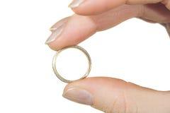 De ring voor huwelijk Stock Afbeeldingen
