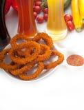 De ringen van Calamari Stock Afbeelding