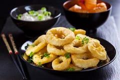 De ringen van Calamari Stock Foto's