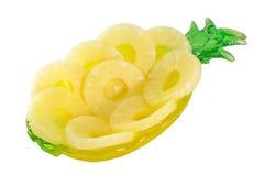 De ringen van de ananas op een wit royalty-vrije stock foto