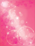De Ringen van de eeuwigheid met de Roze Achtergrond van Harten stock illustratie