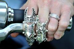 De Ringen van de fietser Stock Afbeelding