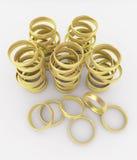 De Ringen van de gouden bruiloft Stock Foto's