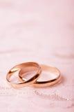 De ringen van de gouden bruiloft Royalty-vrije Stock Afbeelding