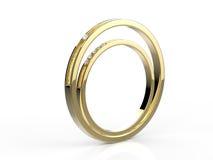 De Ringen van de gouden bruiloft Royalty-vrije Stock Afbeeldingen