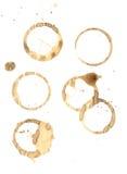 De ringen van de koffie en ploeteren Royalty-vrije Stock Fotografie