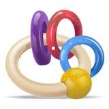 De Ringen van de Rammelaar van de baby Stock Foto