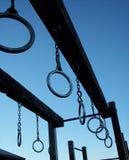 De ringen van de speelplaats Stock Foto