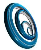 De ringen van het Chroom Stock Fotografie