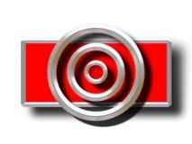 De ringen van het metaal Stock Fotografie