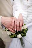 De ringen van huwelijken Royalty-vrije Stock Afbeelding