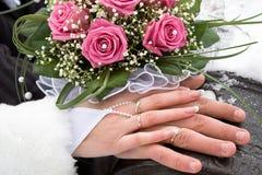 De ringen van huwelijken Royalty-vrije Stock Foto