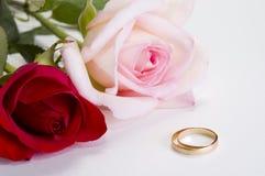 De ringen van Weding stock fotografie