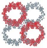 De ringsdecoratie van de bloem Stock Fotografie