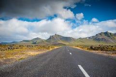 de ringsweg in IJsland stock foto