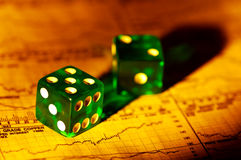 De Risico's van de investering Stock Foto