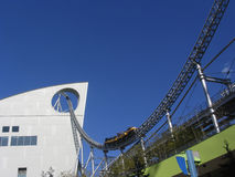 De rit van de achtbaan Stock Afbeeldingen