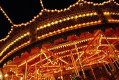 De rit van de carrousel. Stock Afbeeldingen