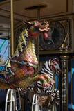 De rit van de draakcarrousel - close-up Royalty-vrije Stock Afbeelding