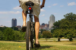 De rit van de fiets Stock Foto's