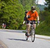 De Rit van de fiets over Georgië Stock Afbeelding