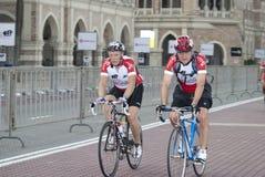 De Rit van de fietser in OCBC Cyclus Maleisië 2011 stock foto's