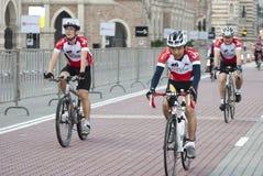De Rit van de fietser in OCBC Cyclus Maleisië 2011 royalty-vrije stock afbeelding