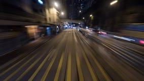 De rit van de nachttram in Hong Kong Stock Foto