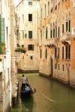 De rit van de gondel in Venetië Stock Afbeelding