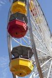 De Rit van Monica Pier Carnival Amusement Thrill van de kerstman Stock Foto