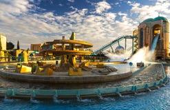 De Ritsan Diego California Sea World Theme Park van de Atlantiscarrousel royalty-vrije stock foto's