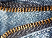 De ritssluiting van de jeans Royalty-vrije Stock Afbeelding