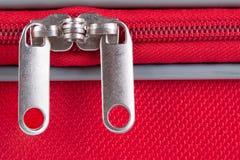 De ritssluiting van de koffer Stock Foto