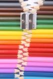 De ritssluiting van het kleurpotlood Royalty-vrije Stock Afbeelding